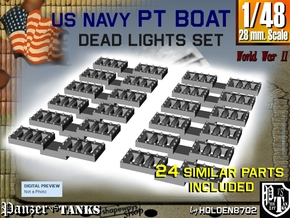 1-48 PT Boat DeadLights Set in Smooth Fine Detail Plastic