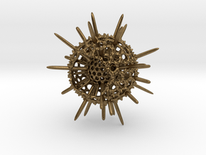 Spiky Spumellaria Sculpture - Science Gift in Natural Bronze: Large