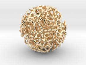 Small lidinoid (irregular holes) in 14k Gold Plated Brass