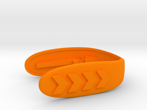 ARROW KEY FOB  in Orange Processed Versatile Plastic