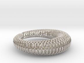 Bracelet 'Wire pattern' in Rhodium Plated Brass