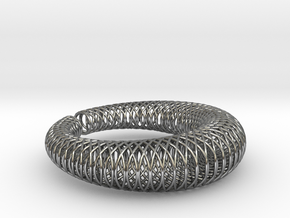 Bracelet 'Wire pattern' in Polished Silver