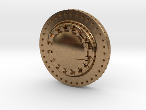 HO Scale Smokebox Front Blank in Natural Brass