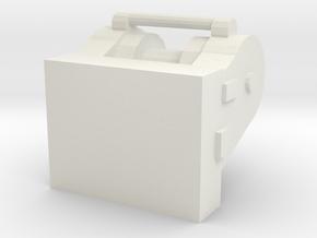 1/50 Dozer Winch D6 in White Natural Versatile Plastic