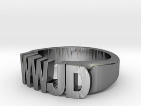 WWJD Size 11.5 in Fine Detail Polished Silver