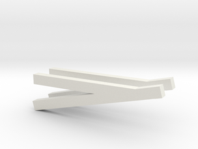 1/50 angle blade arms in White Natural Versatile Plastic