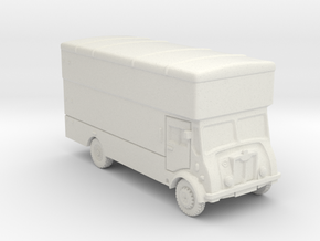 N Gauge Furniture Van in White Natural Versatile Plastic