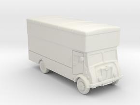 N Gauge Furniture Van in White Natural Versatile Plastic
