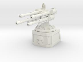 Quad Automatic Cannon Emplacement in White Natural Versatile Plastic