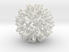 Starry Ornament in White Natural Versatile Plastic
