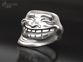 Trollface meme ring in Raw Silver: 7 / 54