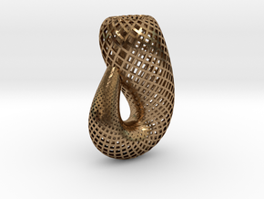 Klein bottle, classic in Natural Brass
