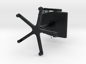 Officechair in Black Hi-Def Acrylate: Small