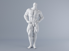 Mini Strong Man 1/64 005 in Smooth Fine Detail Plastic: 1:64 - S