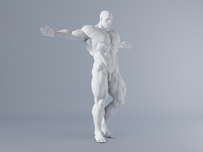 Mini Strong Man 1/64 019 in Smooth Fine Detail Plastic: 1:64 - S