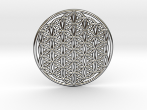 Flower Of Life - Large in Polished Silver