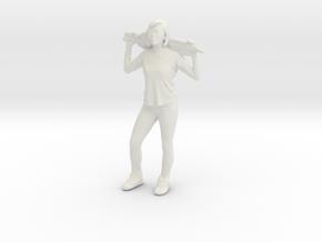 Printle C Femme 001 - 1/24 - wob in White Natural Versatile Plastic: 1:48 - O