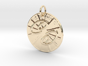Cancer Wheel by ~M. (June 21 - July 22) in 14k Gold Plated Brass