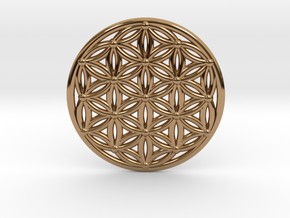 Flower Of Life - Medium in Polished Brass