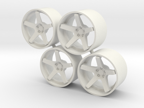 """Set Stance Wheels 21"""" in White Strong & Flexible"""