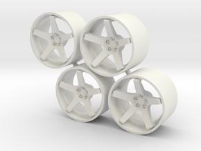 "Set Stance Wheels 21"" in White Natural Versatile Plastic"