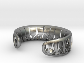 Forest for the Trees Cuff in Natural Silver: Medium