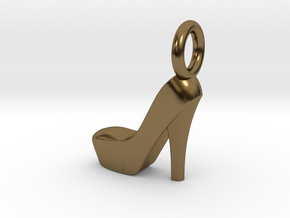 Shoe Charm in Polished Bronze