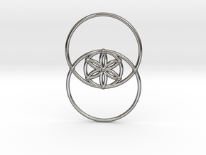 Vesica Piscis - Flower of life in Polished Silver