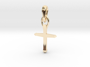 Design Cross Shaped Pendant in 14K Yellow Gold