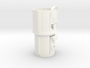Adapter Mk II for Dyson V8 to pre-V8 tools in White Strong & Flexible Polished