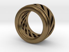 Simple - Fidget (Spin) Ring in Natural Bronze (Interlocking Parts): 3 / 44