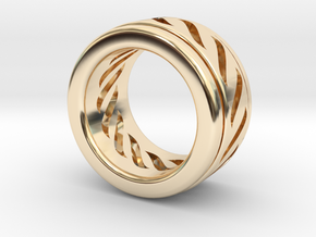 Simple - Fidget (Spin) Ring in 14k Gold Plated Brass: 3 / 44