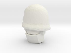 Team Fortress 2 RoboSoldier (Titans Return) in White Natural Versatile Plastic