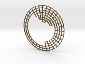 Circular Periodic Table pendant in Natural Bronze