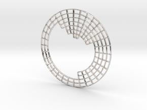 Circular Periodic Table pendant in Platinum