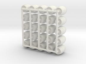 25pcs: N/OO Scale Wine Barrels in White Natural Versatile Plastic: 1:76 - OO