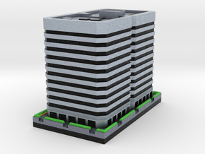 Chicago 80s Style Office Building 3 x 4 in Full Color Sandstone