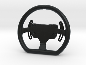 Steering Wheel P-GT4-Type - 1/10 in Black Hi-Def Acrylate
