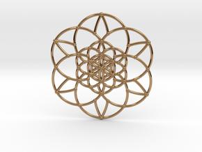 Fractal Flower of life  in Polished Brass