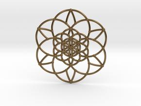 Fractal Flower of life  in Polished Bronze