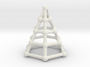 Skeleton cone in White Natural Versatile Plastic