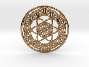 Seed Of Life - Flower Of Life in Polished Brass