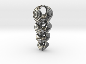 Hyperbole 02 Chain Small in Interlocking Polished Silver