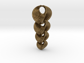 Hyperbole 02 Chain Small in Natural Bronze (Interlocking Parts)