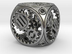 Gears Delirium II - D6 in Natural Silver