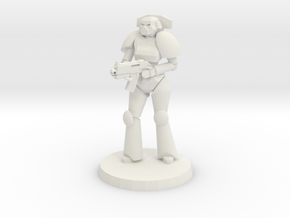 Female Space Trooper in White Strong & Flexible