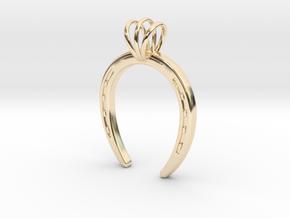 Horseshoe Necklace Pendant in 14K Yellow Gold