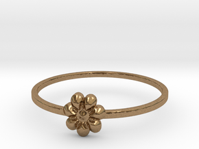 Blooming Flower (size 4-13) in Natural Brass: 4 / 46.5