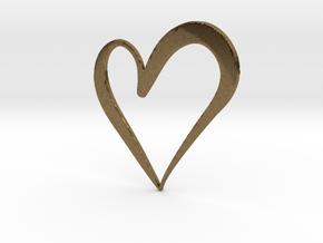 Big Heart in Natural Bronze