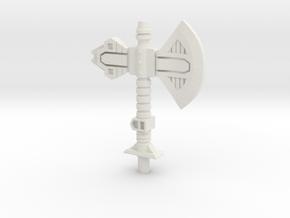 Vibro-Axe for Titans Return Broadside in White Strong & Flexible
